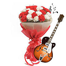 Allure of Music with Blooms: Anniversary Flowers for Parents
