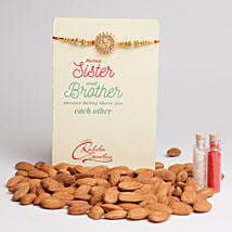 Almonds Special Rakhi Combo: Rakhi with Dryfruits