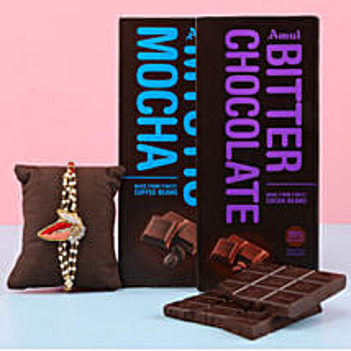 Amul Chocolate Double Fun & Rakhi Combo: Send Set Of 2 Rakhi