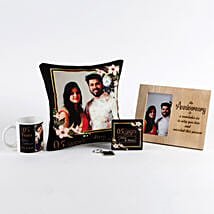 Anniversary Special Personalised Gift Set: Personalised Keychains