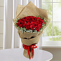 Appealing Red Roses Bunch: Premium Gifts