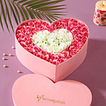 Artificial Roses Heart Box: Flower Delivery in Chitrakoot