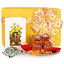 Auspicious Charan Kamal Hamper: Send Handicraft Gifts to Noida