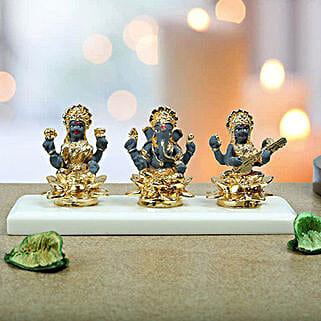 Auspicious Lakshmi Ganesha N Saraswati: Send Plants n Dry Fruits