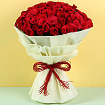 Authentic Love 100 Roses: Valentine Flowers Raipur