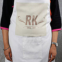 Awesome White Apron With Personalized Text: Mothers Day Personalised Gifts