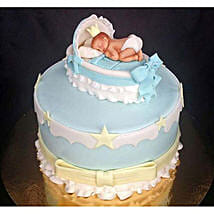 Baby In The Crib Fondant Cake: Designer Cakes to Lucknow
