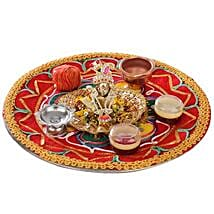 Bal Krishna With Puja Thali: Send Pooja Thali to Mumbai