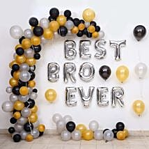 Balloon Décor For Best Bro Ever: Room Decorations