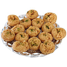 Balushahi In Silver Tray: Birthday Sweets