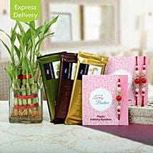 Bamboo N Chocolate Special Rakhi: Rakhi Gifts to Indore