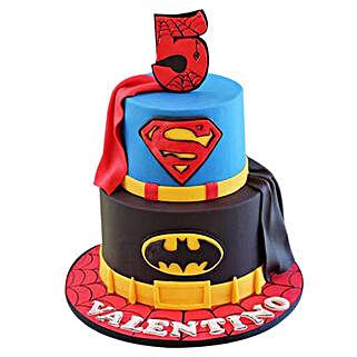 Batman N Superman Cake: Spiderman Cakes