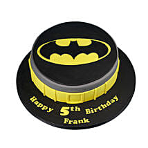 Batman Symbol Cake: Cartoon Cakes