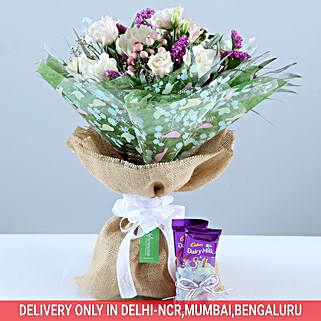 Beautiful Bouquet & Dairy Milk Combo: Diwali Premium Gifts