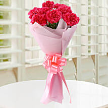 Beautiful Pink Carnations Bouquet: Womens Day Gifts for Wife