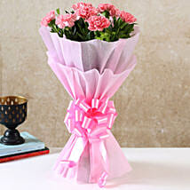 Beautiful Pink Carnations Bouquet: Mothers Day Gifts Bhubaneshwar