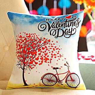 Beautiful Print Valentine's Cushion: Send Valentine Gifts for Men