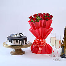 Beautiful Red Rose Hamper: Birthday Gifts for Her