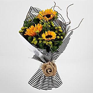 Beautiful Yellow Sunflowers Premium Bouquet: