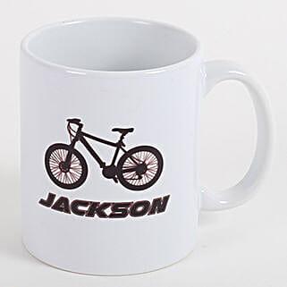 Bicycle Personalized Mug: Fathers Day Personalised Mugs