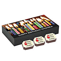 Birthday Gift Box- 6 Personalised Chocolates: Personalised Chocolates Hyderabad