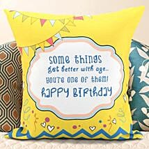 Birthday Message Cushion: Birthday Gifts for Him