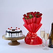 Black Forest and Flowers: Send Valentine Gifts to Pune