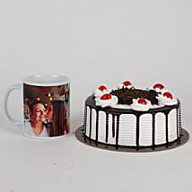 Black Forest Cake & Personalised Mug For Mom: Cakes N Personalised Gifts