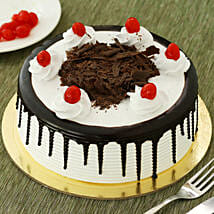 Black Forest Cake: Send Rakhi with Mugs