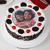 Black Forest Mothers Day Photo Cake: Photo Cakes