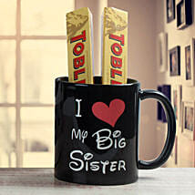 Black Mug For Sister: Send Rakhi to Karimnagar