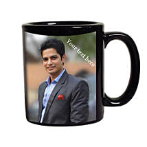 Black Mug Personalized: Friendship Day Personalised Mugs
