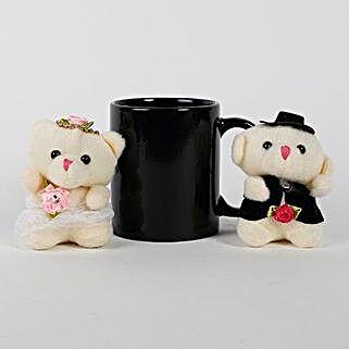 Black Mug & Teddy Bears Combo: