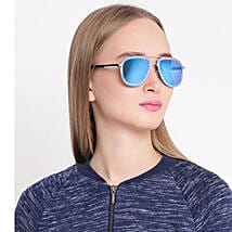 Blue Aviator Unisex Sunglasses: Sunglasses for Her