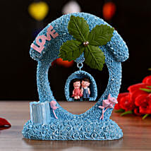 Blue Couple On Swing Musical Decor: Valentines Day Gifts for Him