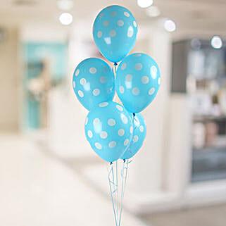 Blue Polka Balloon Bunch: Balloons