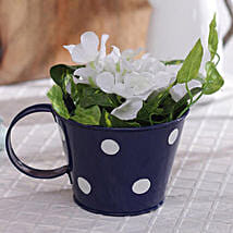 Blue Polka Planter: Garden Tools and Accessories