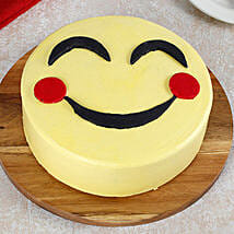 Blush Emoji Cake: Cakes for Friendship Day