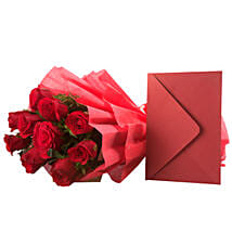 Bouquet N Greeting Card: Gifts to Tumkur