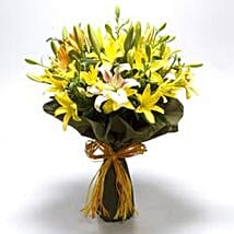 Bouquet Of Mixed Asiatic Lilies: Valentines Day Flower Bouquets