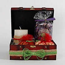 Box of Candles With Dry Fruits & Potpourri: Send Diwali Gift Hampers