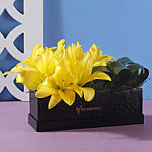 Box Of Yellow Asiatic Lilies: Flowers for Janmashtami