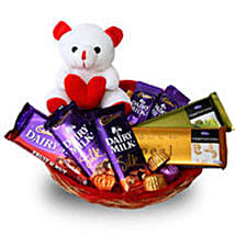 Branded Chocolate Basket: Gift Baskets to Ludhiana