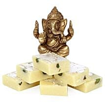 Brass Ganesha With Pista Burfi: Diwali Sweets to Pune
