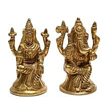 Brass Lakshmi Ganesha Idol: Diwali Gifts for Parents