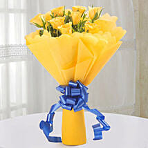 Bright Yellow Roses Bouquet: Send Flowers to Aligarh