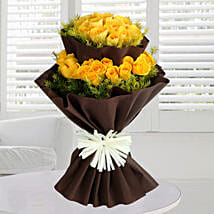 Bright Yellow Roses Bunch: Yellow Flowers
