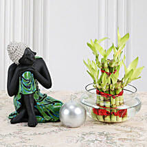Buddha With Lucky Bamboo: Send Gifts to Etah
