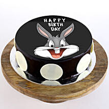 Bugs Bunny Chocolate Photo Cake: Cakes for 1st Birthday