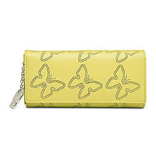 Butterflies Attractive Yellow Wallet: Buy Wallets